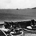 Cannons In Fort Aimed Harbor Circa 1865 Black by Mark Goebel