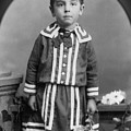 Child Kid Flowers 1890s Black White Archive Boot by Mark Goebel