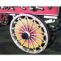 Circus Wagon Wheel by Karen Francis