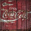 Coca Cola Sign Barn Wood by John Stephens