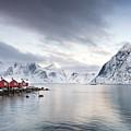 Dawn At Hamnoy On The Lofoten Islands by Richard Burdon