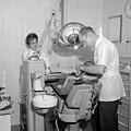 Dentist Working Patient October 18 1962 Black by Mark Goebel