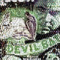 Devil Bat Movie Poster Horror Mosaic by Paul Van Scott