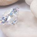 Diamond On White Stone by Atiketta Sangasaeng