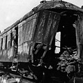Exploded Train Car Robbery October 1923 Black by Mark Goebel