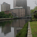 Foggy Morning In Providence by Barry Doherty