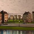 French City Landscrape by John Junek