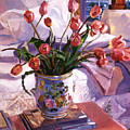 Fresh Tulips by David Lloyd Glover
