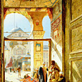 Gate Of The Great Mosque. Damascus by Gustav Bauernfeind