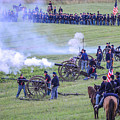 Gettysburg Union Artillery And Infantry 7439c by Cynthia Staley