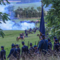 Gettysburg Union Artillery And Infantry 7457c by Cynthia Staley