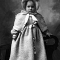 Girl Posing In Winter Coat 1903 Black White by Mark Goebel