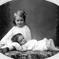 Girls Posing June 30 1905 Black White 1900s by Mark Goebel