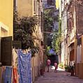 Greece. Venetian Street In Corfu Old Town. by Steve Outram