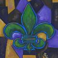 Green Fleur De Lis by Patti Schermerhorn
