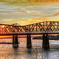 Harahan Bridge In Memphis,tennessee At Sunset by Billy Morris