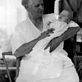 Holding Baby 1927 Black White 1920s Archive Boy by Mark Goebel