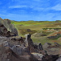 Hunters Overlook Badlands South Dakota by Joi Electa