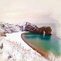 Illustration Of  The Durdle Door In Snow by Don Kuing