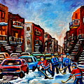 Late Afternoon Street Hockey by Carole Spandau