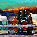 Laurentian Landscape Quebec Winter Scene by Carole Spandau