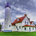 Lighthouse At Point Iroquois by Nick Zelinsky