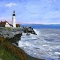 Lighthouse South Portland Me  by Gloria Condon
