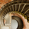 Lighthouse Stairs Cape Blanco Oregon 1 by Vivian Christopher