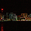 Madison Wi Skyline At Night by Tommy Anderson