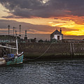 Maryport Harbour At Sunset by Ian Lewis
