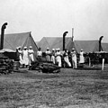 Military Cooks Next Stoves Tents Wood Circa 1910 by Mark Goebel