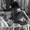 Mother Baby 1910s Black White Archive Bassinet by Mark Goebel
