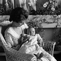 Mother Holding Baby 1910s Black White Archive by Mark Goebel
