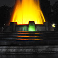 Mulholland Fountain Reflection by Clayton Bruster