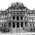 Old Executive Office Building Bw by Christopher Duncan