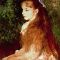 Portrait Of Mademoiselle Irene Cahen D'anvers by Pierre Auguste Renoir