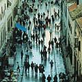 Promenade In Dubrovnik by Carl Purcell