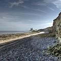 Reculver From Bishopstone Beach by Dave Godden