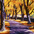 Road Of Golden Beauty by David Lloyd Glover