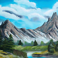 Rocky Mountain Tranquil Escape Dreamy Mirage by Claude Beaulac