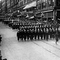 Sailors Marching In Parade 19171918 Black White by Mark Goebel