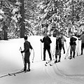 Skiers January 19 1967 Black White 1960s Archive by Mark Goebel