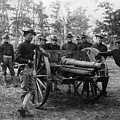 Soldiers Cannon 1898 Black White 1890s Archive by Mark Goebel