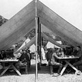 Soldiers Eating In Mess Tent 19061909 Black by Mark Goebel