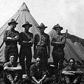 Soldiers Posing In Front Tents 19171918 Black by Mark Goebel