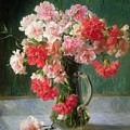 Still Life Of Carnations   by Emile Vernon