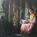 Studying Nun by U Sein Linn