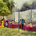 Tables At An Exhibition by Ashish Agarwal