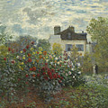 The Artist's Garden In Argenteuil  by Celestial Images