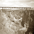 The Crooked River High Bridge Is A Steel Arch Bridge That Spans Oregon Built In 1926  Circa 1929 by California Views Archives Mr Pat Hathaway Archives